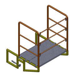 Fabricante de andaime com plataforma